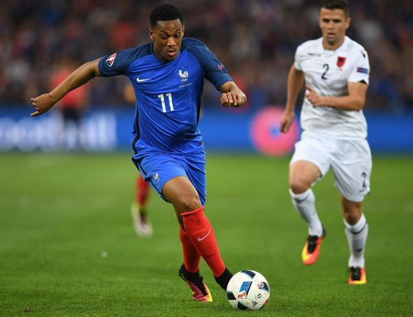 Gruppo A: L'attaccante francese Anthony Martial,