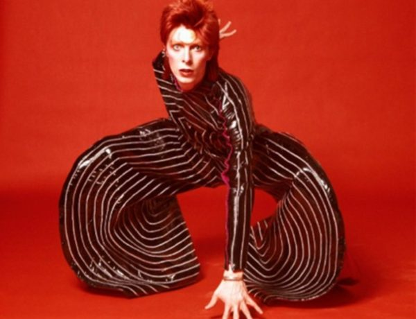 Striped bodysuit for Aladdin Sane tour, 1973, Design by Kansai Yamamoto, Photograph by Masayoshi Sukita Sukita, The David Bowie, Archive 2012