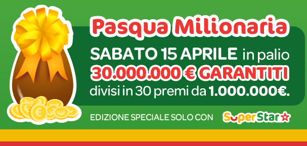 superenalotto pasqua milionaria codici superstar