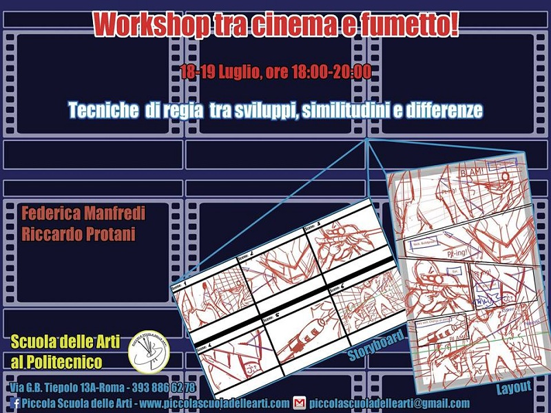 Tra cinema e fumetto, dallo storyboard al layout