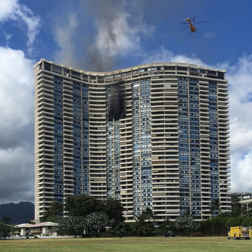 incendio grattacielo marco polo honolulu hawaii morti