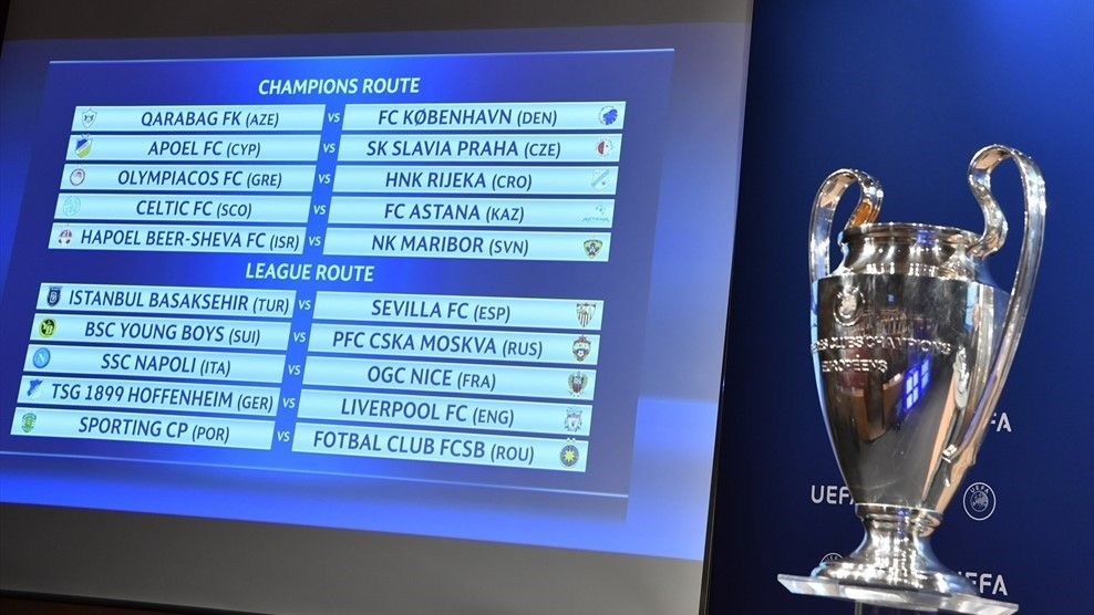 sorteggi playoff champions league oggi