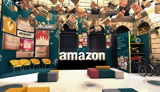 Amazon apre il suo primo pop-up store italiano, dal 16 al 26 novembre a Milano: si chiamerà Amazon Loft for Xmas