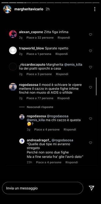 Margherita Vicario insultata dai fan di Emis Killa
