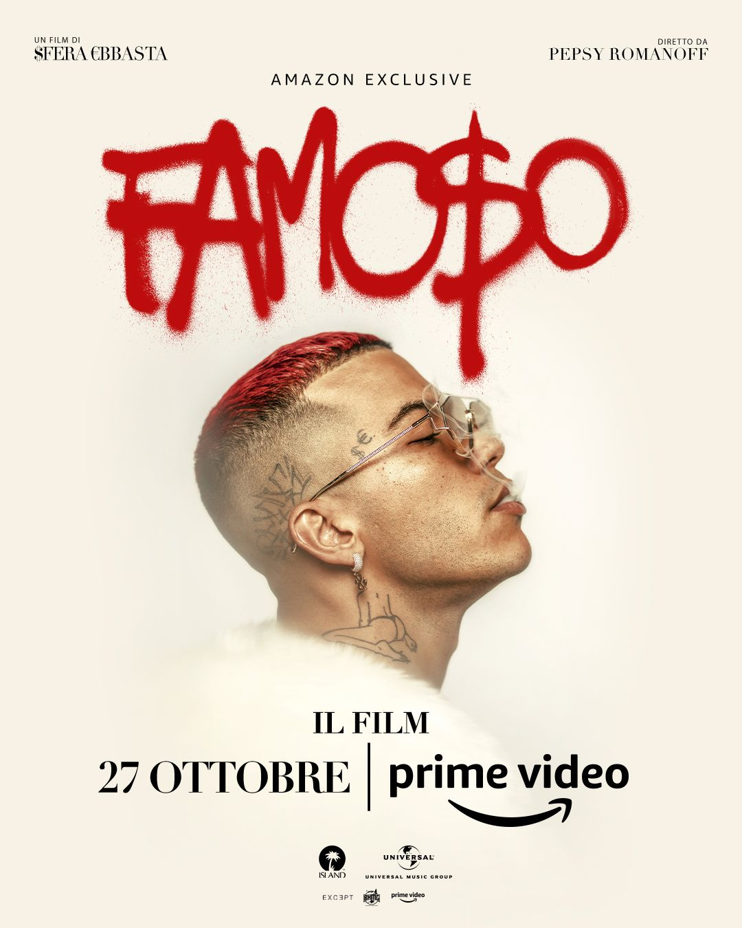 Su Amazon Prime Video arriva il film di Sfera Ebbasta