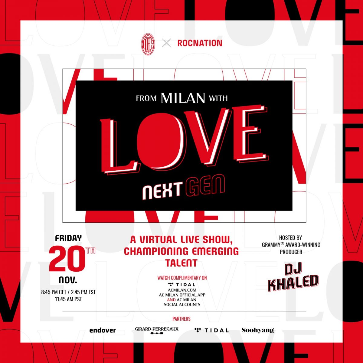 "DJ Khaled presenta ""From Milan with Love: Next Gen"""